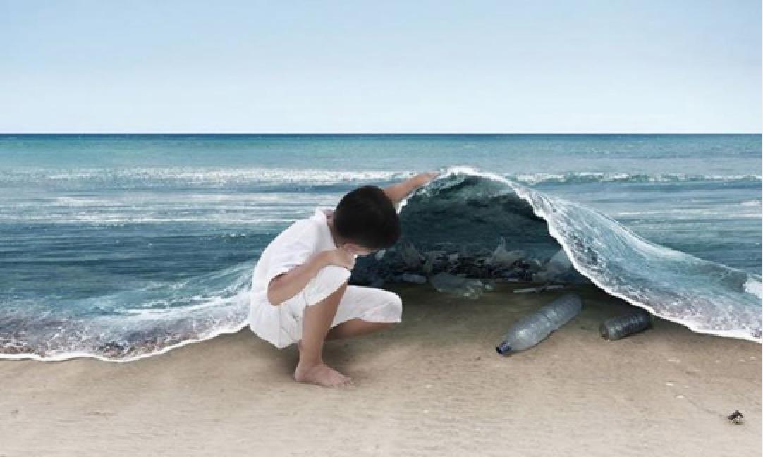 plastic pollutes